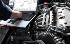 computer performing auto diagnostics