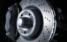 car disk brake on wheel
